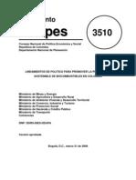 Biocombustibles - Conpes 3510.pdf