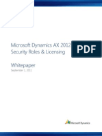 MSDAX2012 Security Roles Licensing Whitepaper