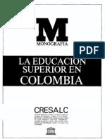 Educacon Superior en Colombia Unesco