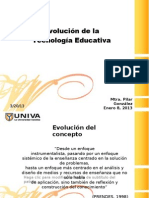 Evolucion Tecnologia Educativa