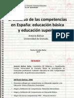 BOLIVAR y El discurso de las competencias en España- educación básica y educación superior.