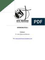 Curso de Hermeneutica i - Parte i
