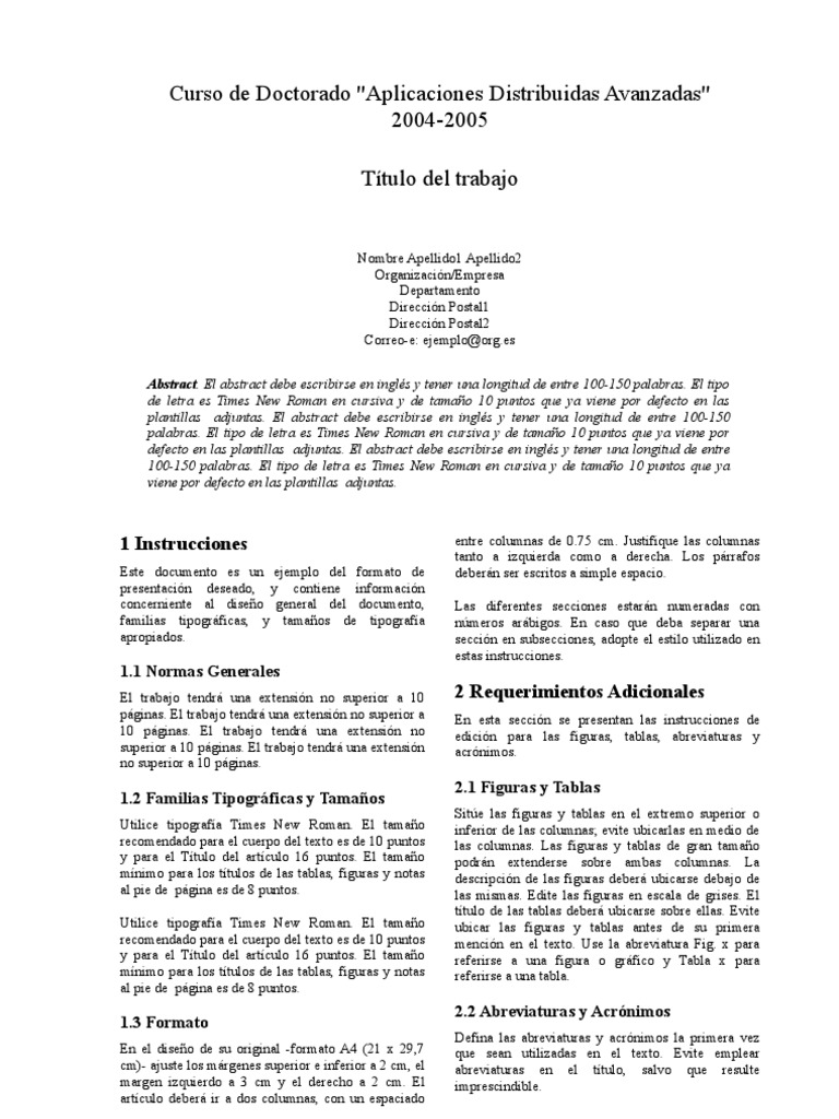 Formato Ieee - Abstract
