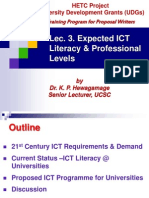 Lec 3. Expected IT Proficiency Levels by Dr. KPH