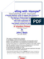 Voysspel - a simplified phonetic script for English