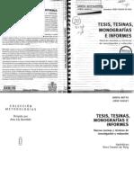 Botta, Mirta. Tesis, Tesinas, Monografias e Informes.