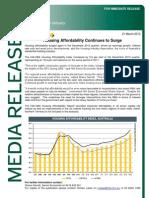HIA Housing Affordability National Release Dec Qtr 2012