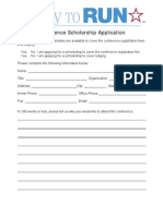 2013 Conference Scholarship Application