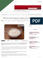 Receta de Levadura Madre o Levadura Casera Para Hacer El Pan