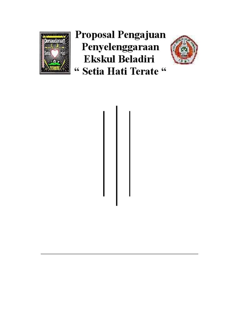 Gambar Proposal Pengajuan Ekskul Beladiri Sht Contoh Formulir Rohis