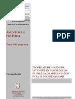 Programa de acción en favor de los países menos adelantados
