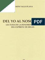 Ramon Valls Plana Del Yo Al Nosotros