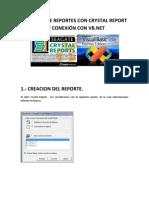 CREACION DE REPORTES CON CRYSTAL REPORT 8 Y CONEXIÓN CON VB