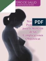 Normas y Protocolo para la Atención de Complicaciones Obst.