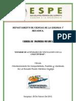 Informe Actividades de Vinculacion Con La Colectividad