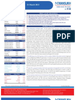 Go Ahead for Equity Morning Note 21 March 2013-Mansukh Investment and Trading Solution
