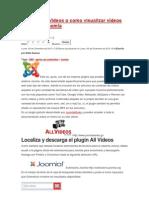 Tutorial de AllVideos de Joomla