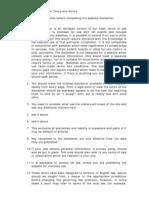 Website Disclaimer Notes