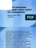 natural awareness campaign crown capital eco management-Belmont Goes Green Launched