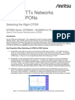 Anritsu Testing FTTx Networks