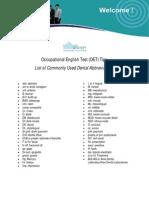 Sydney Language Solutions - OET Tips (Dental Abbreviations)