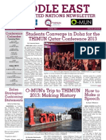 Middle East MUN Newsletter - 2013 03 March