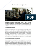 Chomsky y las 10 estrategias de manipulación mediática