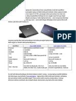 Perbandingan Spesifikasi Dan Harga Laptop Asus Dan Acer