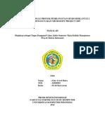 Pembuatan Schedule Proyek Pembangunan Ruko Berlantai 2