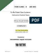 Ar 405 Clinic Final