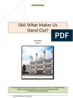 066 What Makes Us Stand Out?