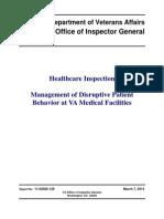 VAOIG-11-02585-129  Management of Disruptive Patient Behavior