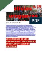 Noticias Uruguayas Jueves 21 de Marzo Del 2013