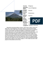 List of Volcano's in Philippines