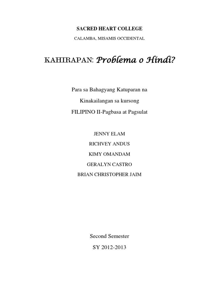 thesis sa filipino tungkol sa korapsyon