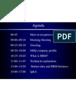 HRM Meeting Agenda