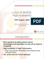 A Tour of MySQL High Availability