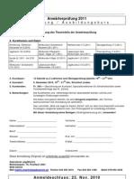 Anhang 10 Anmeldung Zum Ausbildungskurs Anwaerterpruefung 2010 2011