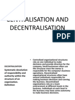 Centralisation and Decentralisation