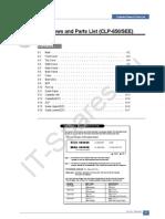 Samsung CLP-650 Parts List