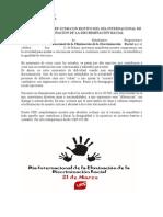 Comunicado Día contra la Discriminación Racial