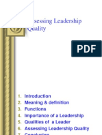 Assessing Leadership Quality