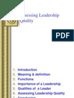 Assessing Leadership Quality