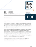 Advies huurdersorganisatie BoKS over overname Vestia-bezit door SSH aan directie SSH