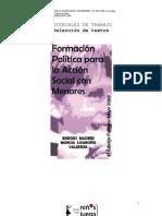Curso de Formacion Politica Para La Accion Social Con Menores