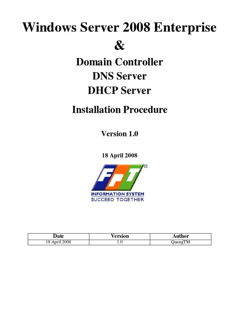 install and configure active directory  dns and dhcp on