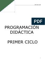 PROGRAMACIÓN DIDÁCTICA OFICIAL PRIMER CICLO
