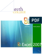 Excel2007_TrainingManual_Advanced