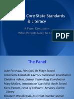 Common Core Panel Presentation