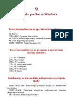 Tasterske prečice za Windows